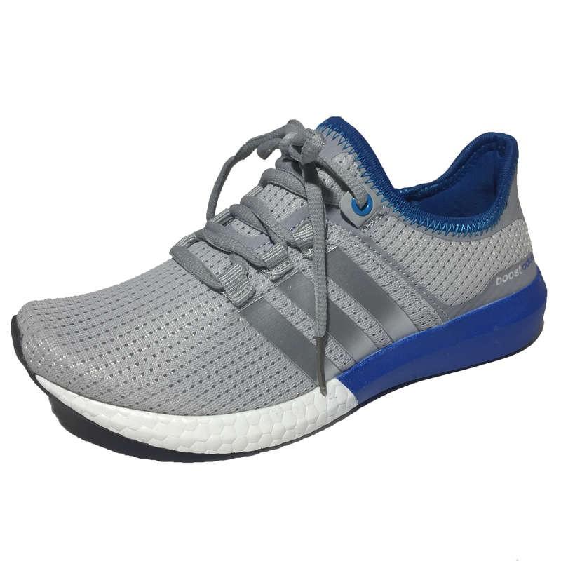 4d1f2204 Женские кроссовки Adidas Boost Climacool (Адидас Буст Климакул) из  двухслойной ткани, серые с голубым